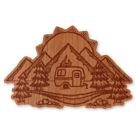 WOODSTICKER(ウッドステッカー) WOOD STICKER OUTDOOR ウッドステッカー アウトドア Mountain Valley IB-DS-WDS-4971