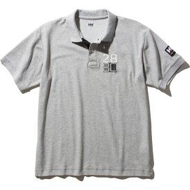 HELLY HANSEN(ヘリーハンセン) S/S Flag Polo(ショートスリーブ フラッグ ポロ)Men's S Z(ミックスグレー) HH32001