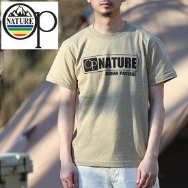 オーシャンパシフィック(Ocean Pacific) 【OP×ナチュラム】5.6オンス プリント Tシャツ ロゴ XL サンドカーキ 599006-R
