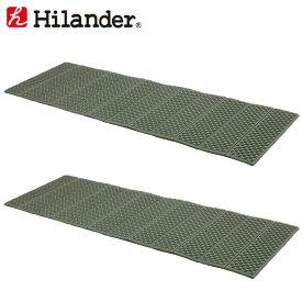 Hilander(ハイランダー) XPE 折りたたみレジャーマット【お得な2点セット】 カーキ HCA0264