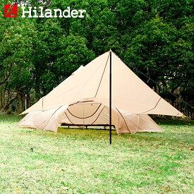 Hilander(ハイランダー) トラピゾイドタープ450 ベージュ HCA0316