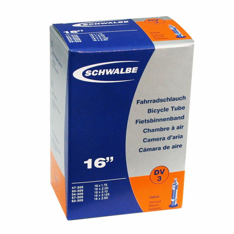 SCHWALBE(シュワルベ) 【正規品】チューブ 16インチ用 英式バルブ 16×1.75 3DV