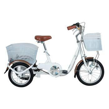 ミムゴ SWING CHARLIE ロータイプ三輪自転車【代引不可】 前16/後14インチ ホワイト MG-TRE16SW-WH