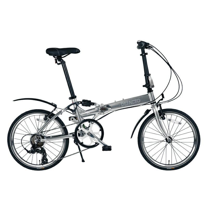 DEFACTO(デファクト) DZ−20 軽量フルアルミ仕様 20インチ折畳自転車 【シマノ 7段変速/リンクサスペンション搭載】 グラファイトシルバー DFDZ20/GP