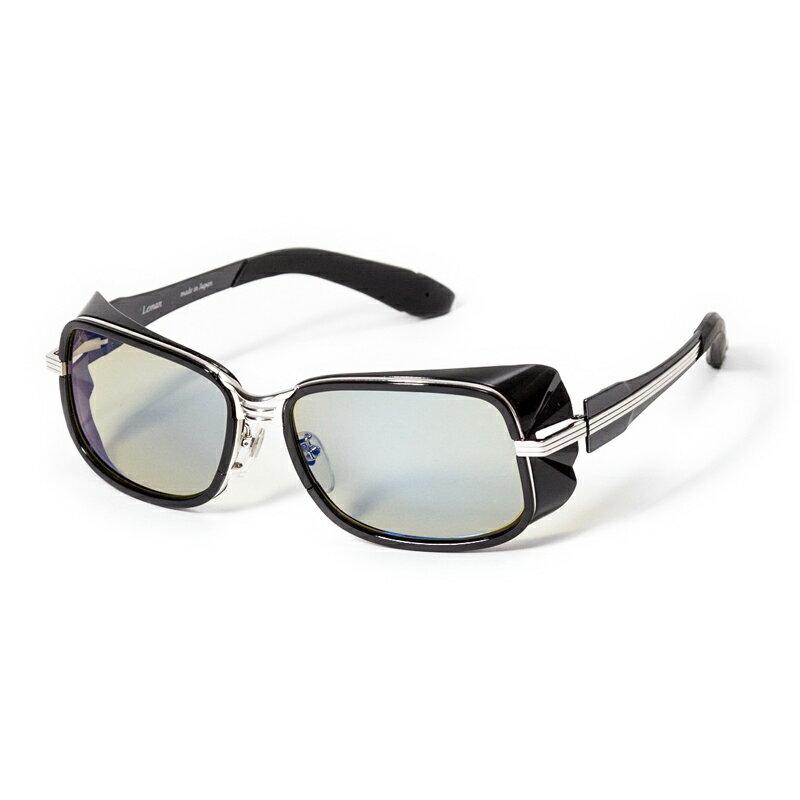 【送料無料】zeal optics(ジールオプティクス) LEMAN(レマン) ブラック×シルバー イーズグリーン×ブルーミラー F-1522【SMTB】