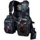 【送料無料】MAZUME(マズメ) レッドムーンライフジャケット V フリー カモ MZLJ-251-01【SMTB】