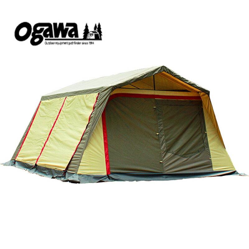 【送料無料】ogawa(小川キャンパル) ロッジシェルターII ブラウン×サンド×レッド 3378