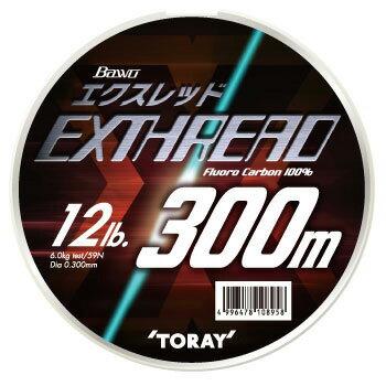 東レモノフィラメント(TORAY) バウオ エクスレッド(ボリュームアップタイプ) 300m 12lb ナチュラル S75E【あす楽対応】