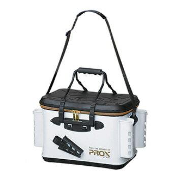 プロックス(PROX) EVAタックルバッカン ロッドホルダー付 40cm ホワイト×ゴールドファスナー PX96640RHWG【あす楽対応】