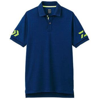 ダイワ(Daiwa) DE−7906 半袖ポロシャツ L ネイビー×サルファースプリング 04518828【あす楽対応】