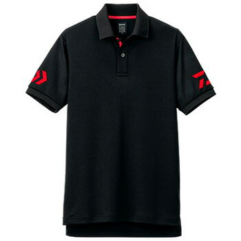 ダイワ(Daiwa) DE−7906 半袖ポロシャツ L ブラック×レッド 04518820【あす楽対応】