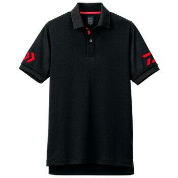 ダイワ(Daiwa) DE−7906 半袖ポロシャツ XL ブラック×レッド 04518821