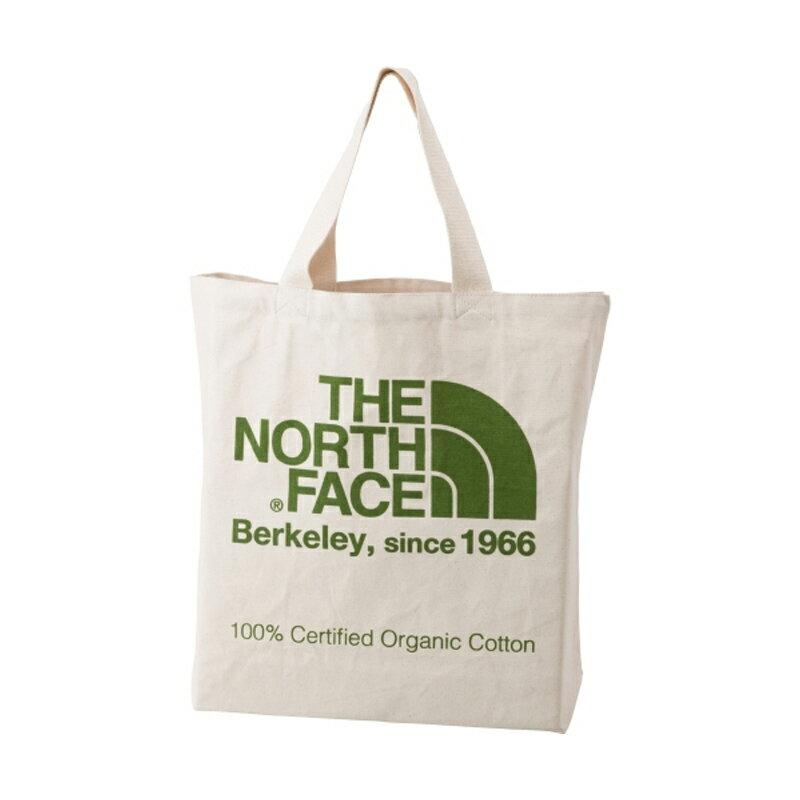 【送料無料】 THE NORTH FACE(ザ・ノースフェイス) TNF ORGANIC COTTON TOTE(TNF オーガニック コットン トート) 20L FG(ナチュラル×フラッシュライトグリーン) NM81616【あす楽対応】【SMTB】