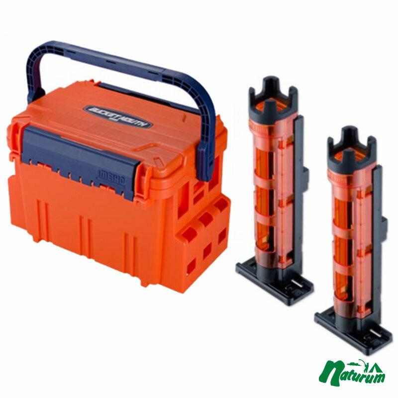 メイホウ(MEIHO) ★バケットマウスBM-5000+ロッドスタンド BM-250 Light 2本組セット★ オレンジ/クリアオレンジ×ブラック