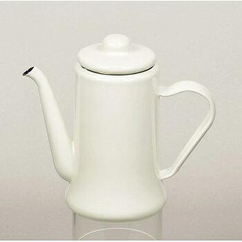 パールライフ(PEARL LIFE) カフェテリア ホーローコーヒーポット 1.1L ホワイト HB-2582