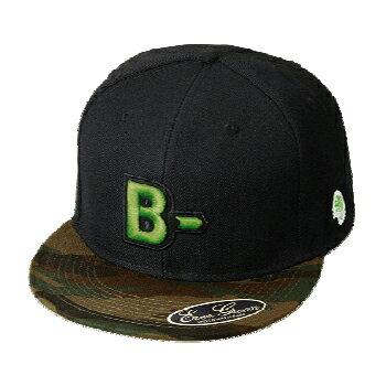エバーグリーン(EVERGREEN) B−TRUE フラットキャップ タイプB グリーンカモ×ブラック