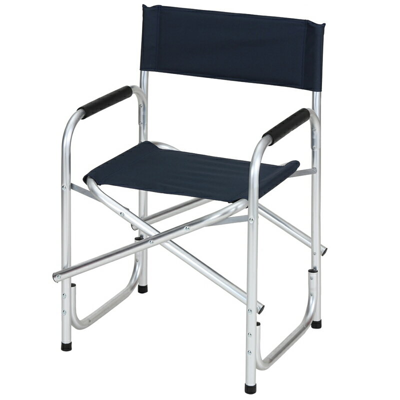 BUNDOK(バンドック) ディレクターチェアアルミ レジャー/アウトドア折りたたみ椅子 ネイビー BD-119