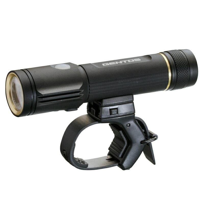 【送料無料】GENTOS(ジェントス) バイクライト 800ルーメン 自転車用LEDライト ブラック XB-800R