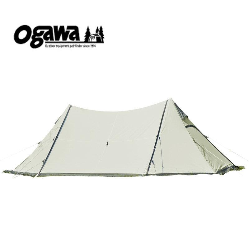 【送料無料】ogawa(小川キャンパル) ツインピルツフォークT/C オフホワイト×ブラウン 3345