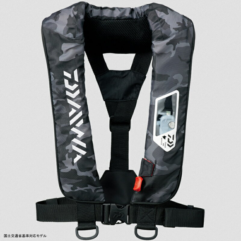 ダイワ(Daiwa) DF-2007 ウォッシャブルライフジャケット(肩掛けタイプ手動・自動膨脹式) フリー ブラックカモ 04595371【あす楽対応】