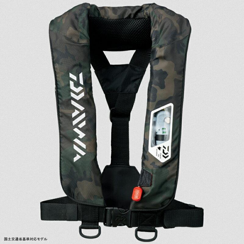 ダイワ(Daiwa) DF−2007 ウォッシャブルライフジャケット(肩掛けタイプ手動・自動膨脹式) フリー グリーンカモ 04595372【あす楽対応】