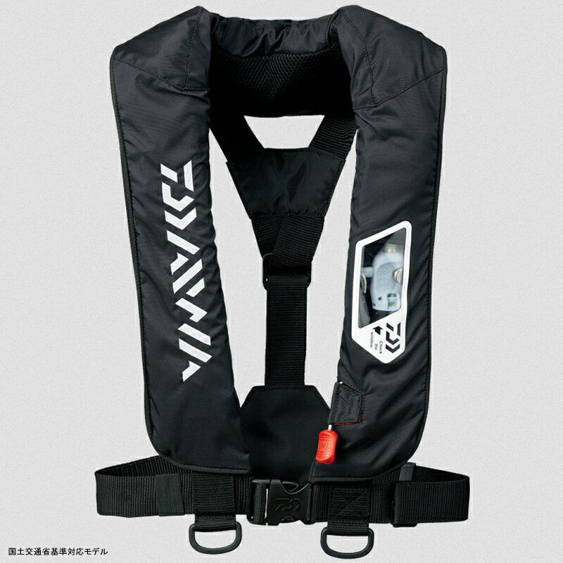 ダイワ(Daiwa) DF−2007 ウォッシャブルライフジャケット(肩掛けタイプ手動・自動膨脹式) フリー ブラック 04595373【あす楽対応】