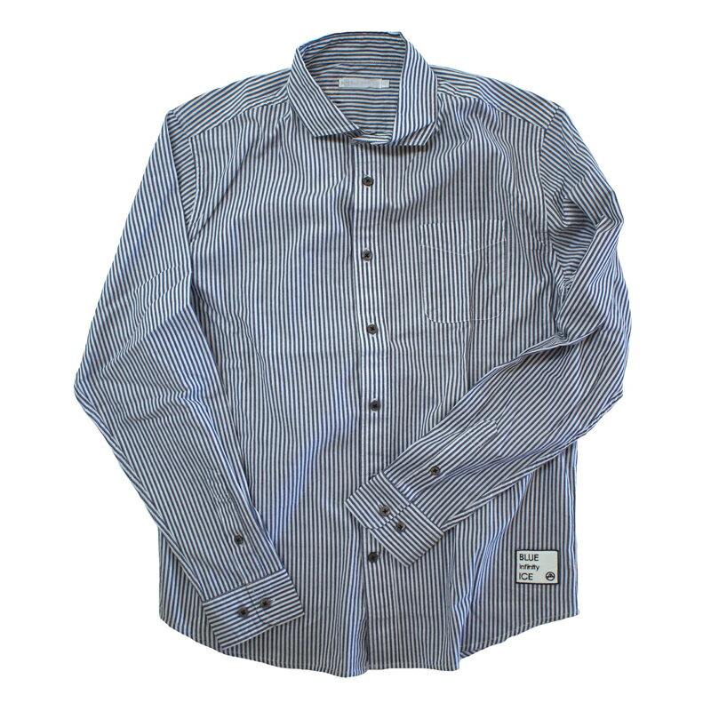 blue infinity ice(ブルーインフィニティアイス) LONG SLEEVE SHIRTS XL 739(STRIPE BLUE) BIJ99800