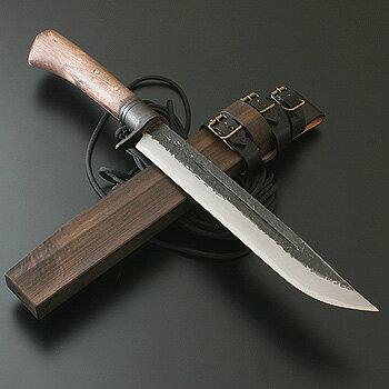 関兼常 関伝古式和鉄製錬 鬼神狩猟匠・両刃 240mm CW-17