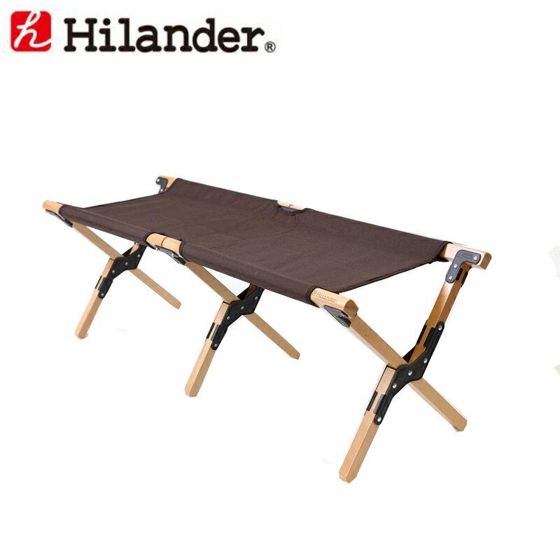 Hilander(ハイランダー) ウッドフレームベンチ(WOOD FRAME BENCH) HCA0174【あす楽対応】