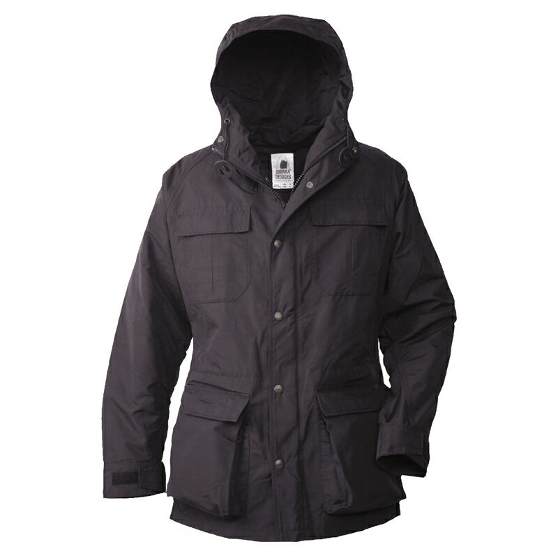 【送料無料】SIERRA DESIGNS(シエラデザインズ) MOUNTAIN PARKA L Black×Black×Blackボタン 7910