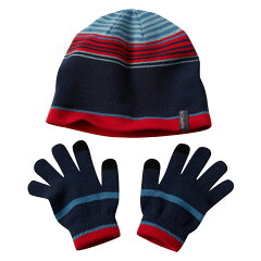 Youth Hat and Glove Set ワンサイズ 407(Blue Heron )