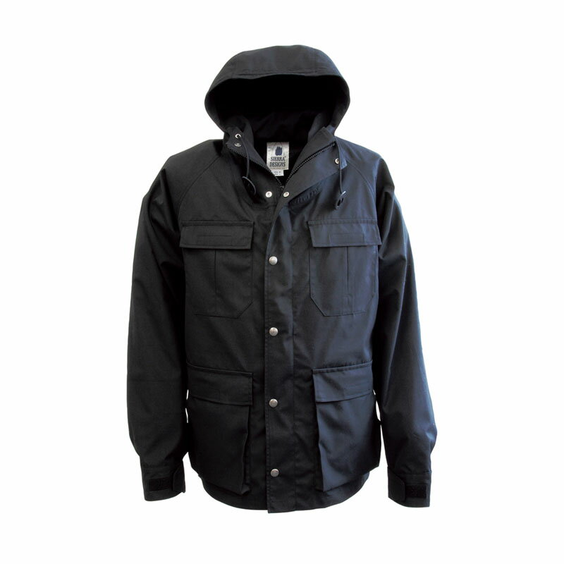 【送料無料】SIERRA DESIGNS(シエラデザインズ) MOUNTAIN TRAIL PARKA L Black×Black 6501