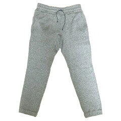 Knit Fleece Rib Pant L O02オートミール
