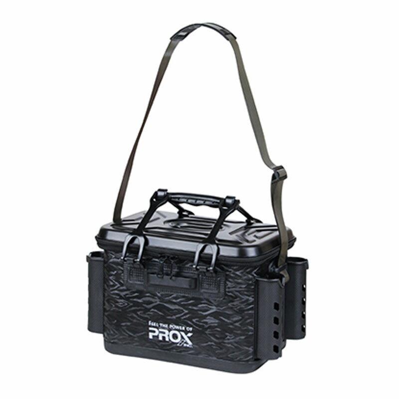 プロックス(PROX) EVA タックルバッカン ロッドホルダー付 36cm ブラック PX966236BK【あす楽対応】