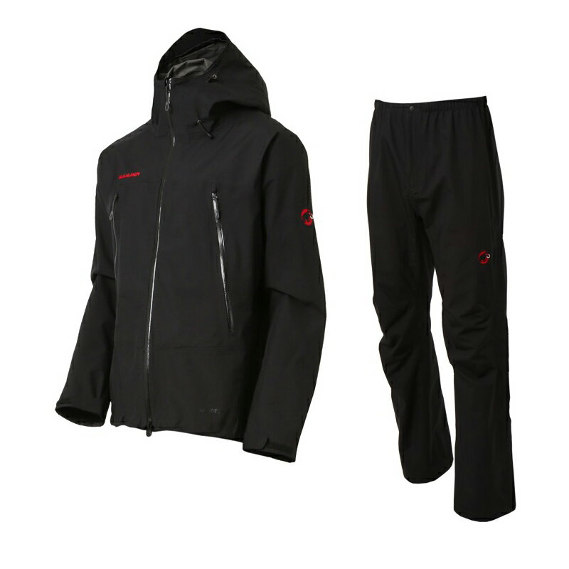 【送料無料】MAMMUT(マムート) CLIMATE Rain −Suits Men's M black−black 1010-26550【あす楽対応】【SMTB】