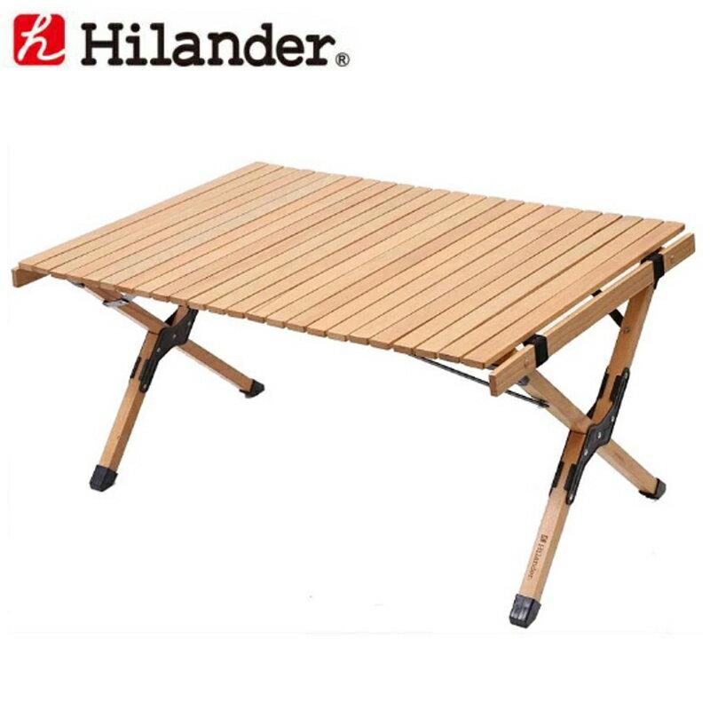 Hilander(ハイランダー) ロールトップテーブル2(ウッド) 90 HCA0191【あす楽対応】