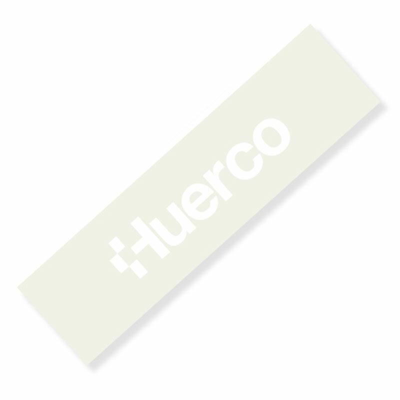 フエルコ(Huerco) ロゴカッティングステッカー 長型大 白 410086