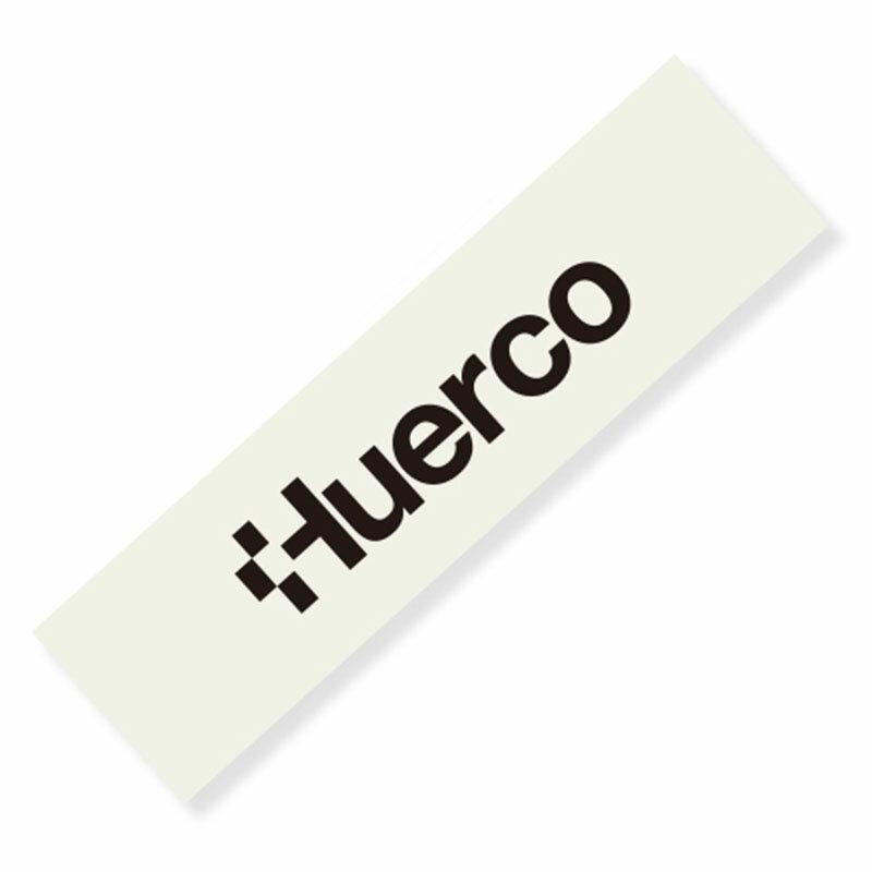 フエルコ(Huerco) ロゴカッティングステッカー 長型小 黒 410123