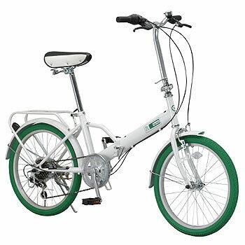 Raychell(レイチェル) 『カラータイヤ装備』20インチ6段変速折り畳み自転車 MF−206RC 20インチ ホワイト 10471