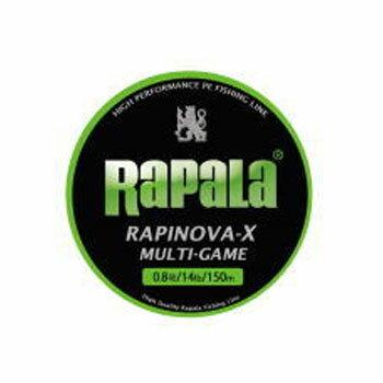 Rapala(ラパラ) ラピノヴァ・エックス マルチゲーム 150m 0.8号/17lb ライムグリーン
