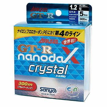 サンヨーナイロン GT-R ナノダックス クリスタルハード 300M 4lb クリスタルクリアー