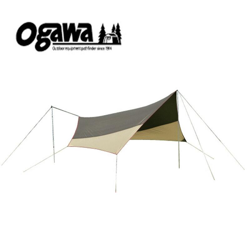 【送料無料】ogawa(小川キャンパル) システムタープヘキサDX ブラウン×サンド×レッド 3331【あす楽対応】