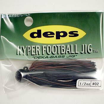 デプス(Deps) HYPER FOOTBALL JIG(ハイパーフットボールジグ) 1/2oz #02 ブラック/ブラウン