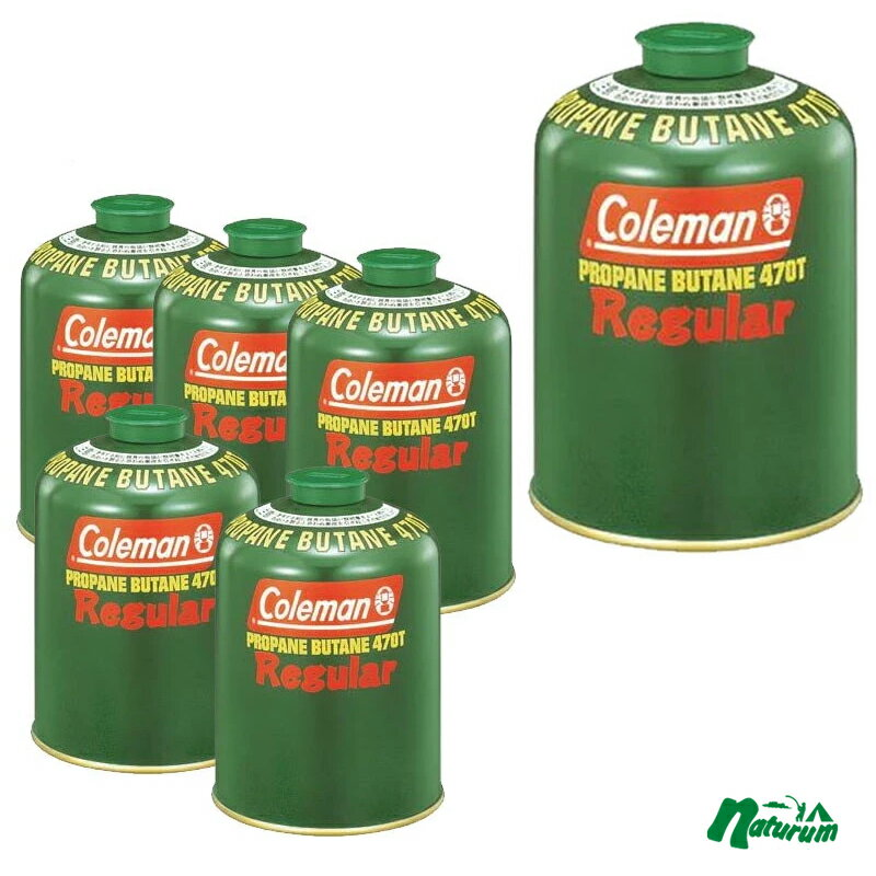 Coleman(コールマン) 純正LPガス燃料[Tタイプ]470g【お得な6点セット】 5103A470T【あす楽対応】