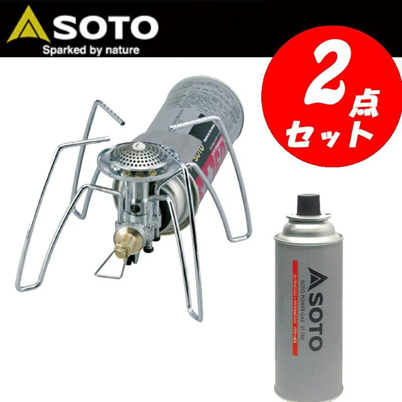 【送料無料】SOTO レギュレーターストーブ+パワーガス【お得な2点セット】 ST-310+ST-760【あす楽対応】【SMTB】