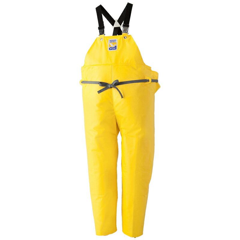 ロゴス(LOGOS) マリンエクセル 胸当付きズボン(膝当付き) L イエロー 12063522