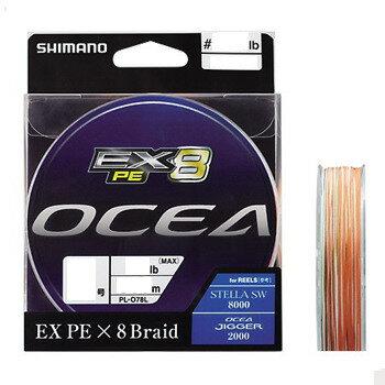 シマノ(SHIMANO) PL−O88L OCEA EX8 PE(オシア EX8 PE) 400m 3号/60lb O×ピュアWH×モス×イエロー×オシアブルー) PL-O88L 5C 3