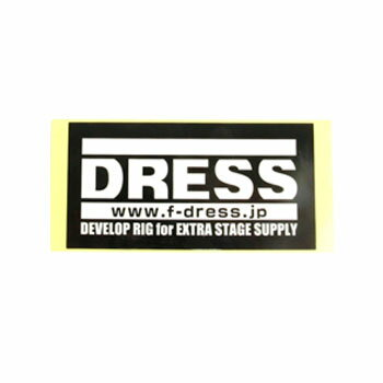 ドレス(DRESS) ロゴステッカー S(スクエア) ブラック LD-OP-0061