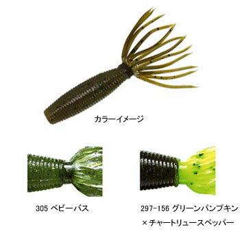 ゲーリーヤマモト(Gary YAMAMOTO) ベビーファットイカ 80mm 297−156 グリーンパンプキン×ブラックF