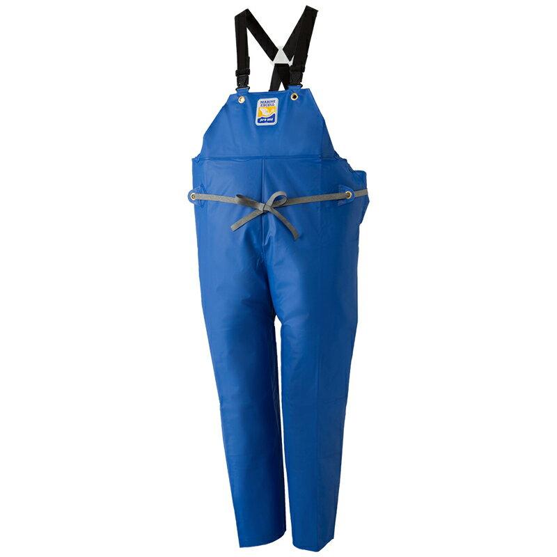 ロゴス(LOGOS) マリンエクセル 胸当付きズボン(膝当付き) 3L ブルー 12063150